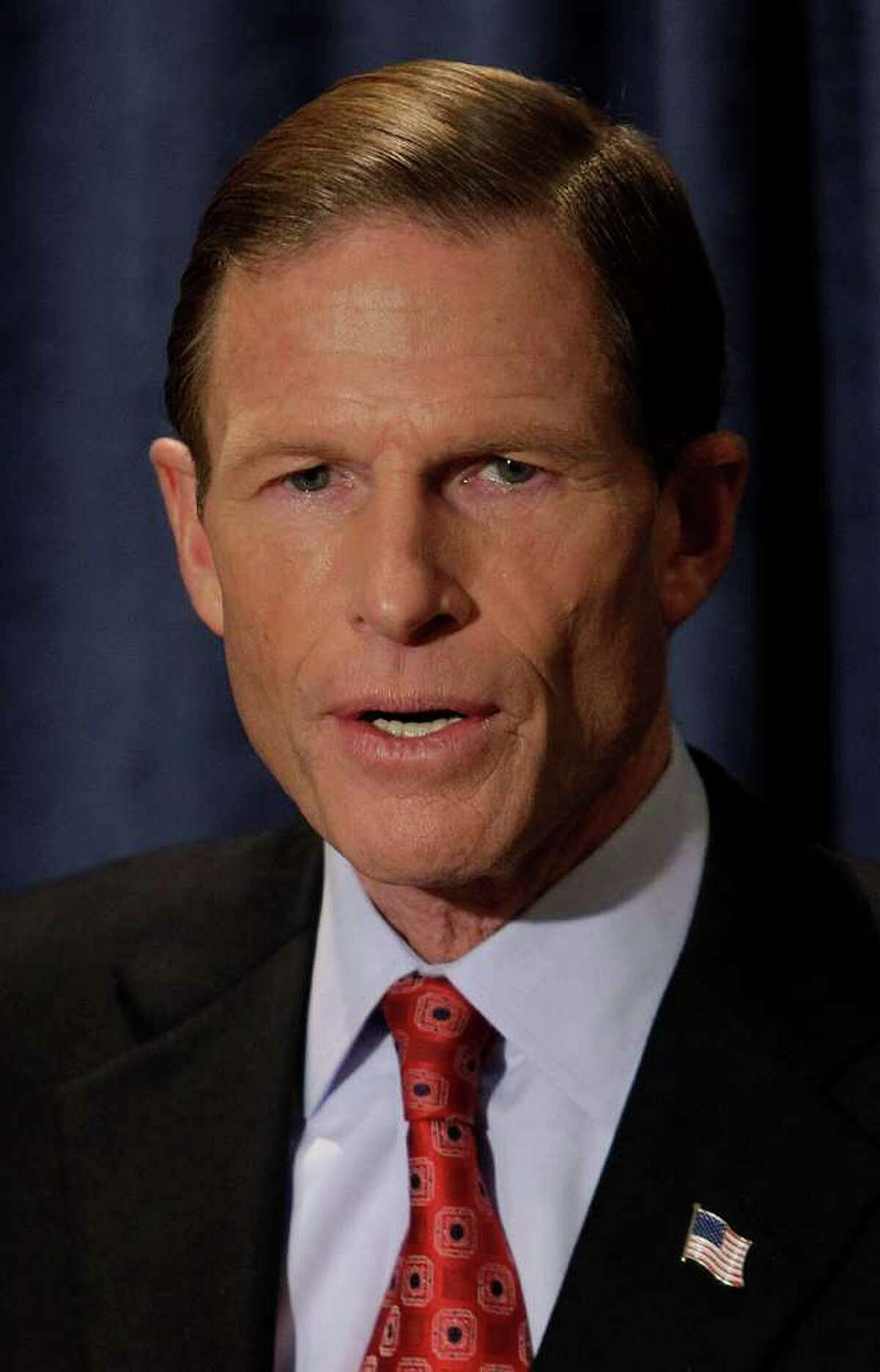 Connecticut Attorney General and newly elected Sen. Richard Blumenthal, D-CT., smiles as he answers a reporters question during a media availability the day after his victory in Hartford, Wednesday, Nov. 3, 2010. (AP Photo/Stephan Savoia)