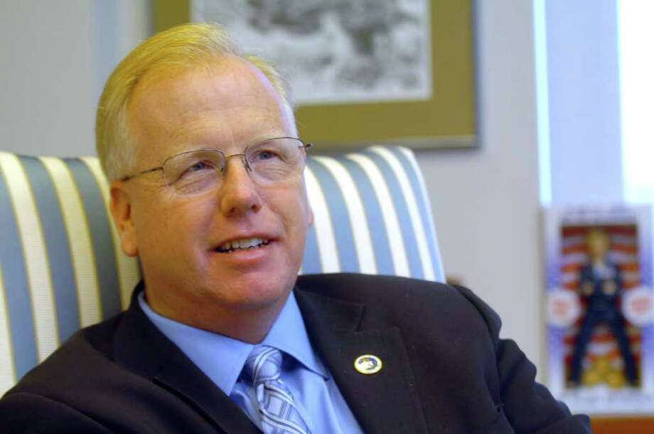 Mayor Mark Boughton is shown at his Danbury office Nov. 2, 2010. Photo: Chris Ware / The News-Times
