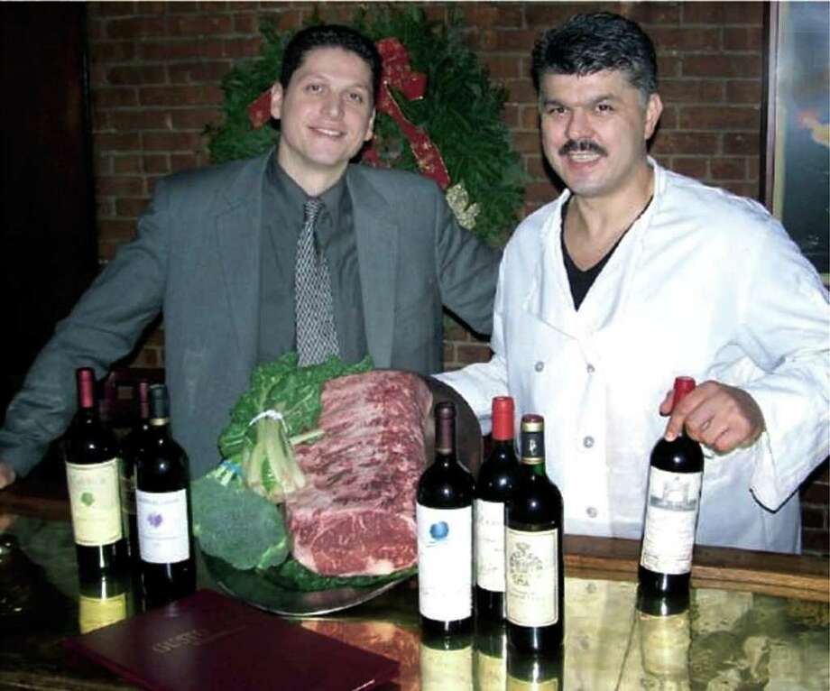 Marash Gojcaj, left and his uncle and business partner, Zef Vulevic, also known as Joe Vuli in this undated file photo. Photo: File Photo / The News-Times File Photo
