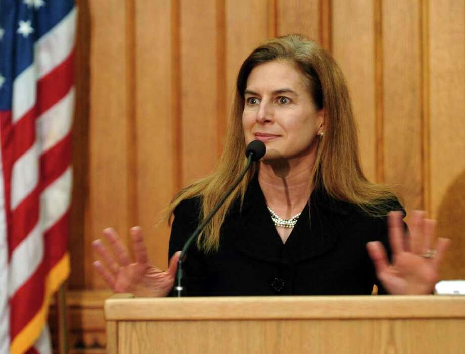Secretary of State Susan Bysiewicz held a press conference about the controversy surrounding Tuesday's election and the pending results in the race for governor. Bysiewicz said a delay in getting vote tallies from Bridgeport registrars is delaying the declaration of the official winner. The scene unfolded at Capitol Building in downtown Hartford, Conn. on Thursday November 4, 2010. Photo: Christian Abraham / Connecticut Post