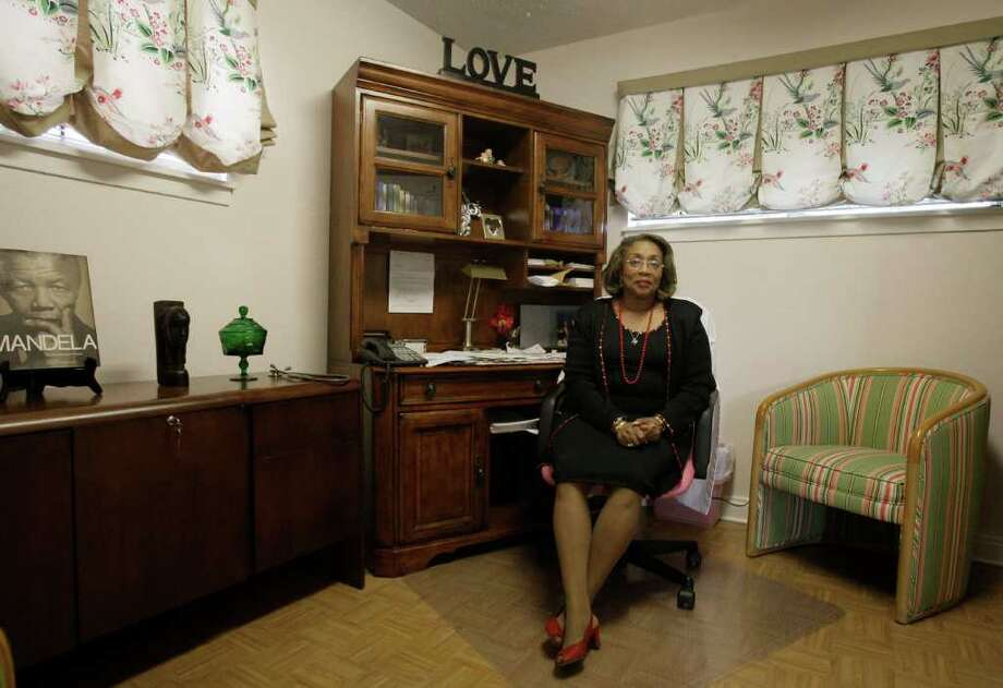 Dr. Natalie Carroll in her office at her OB-GYN practice in Houston. According to government statistics, seventy-two percent of all black babies are born to unmarried mothers and as an obstetrician, Carroll has dedicated her 40-year career to helping black women. She says many of her patients don't think they have to get married, but she says each child deserves a mother and father at home. (AP Photo/Pat Sullivan) Photo: Pat Sullivan