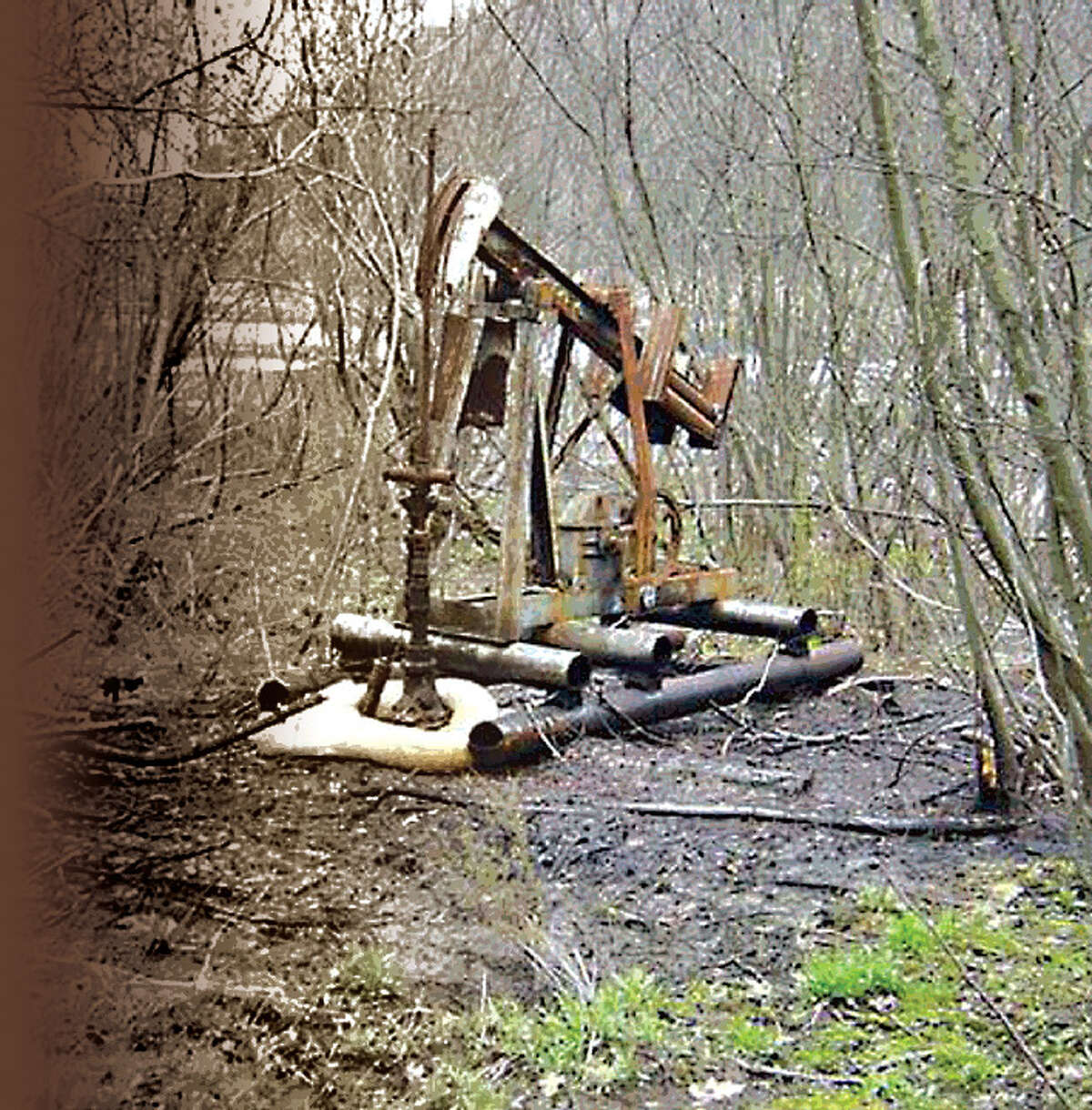 This abandoned oil well in Steuben County is among 91 wells capped by the U.S. Environmental Protection Agency because the state lacks the funds. (EPA photo)