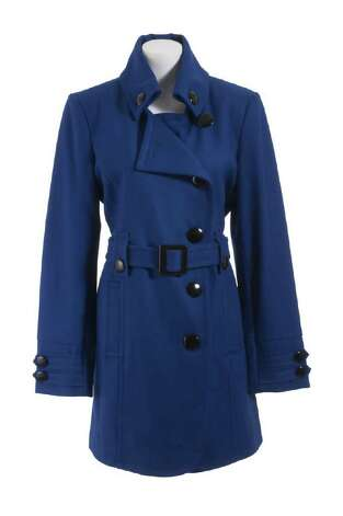 Dress Barn navy blue pea coat (ideal for busty and plus size ...
