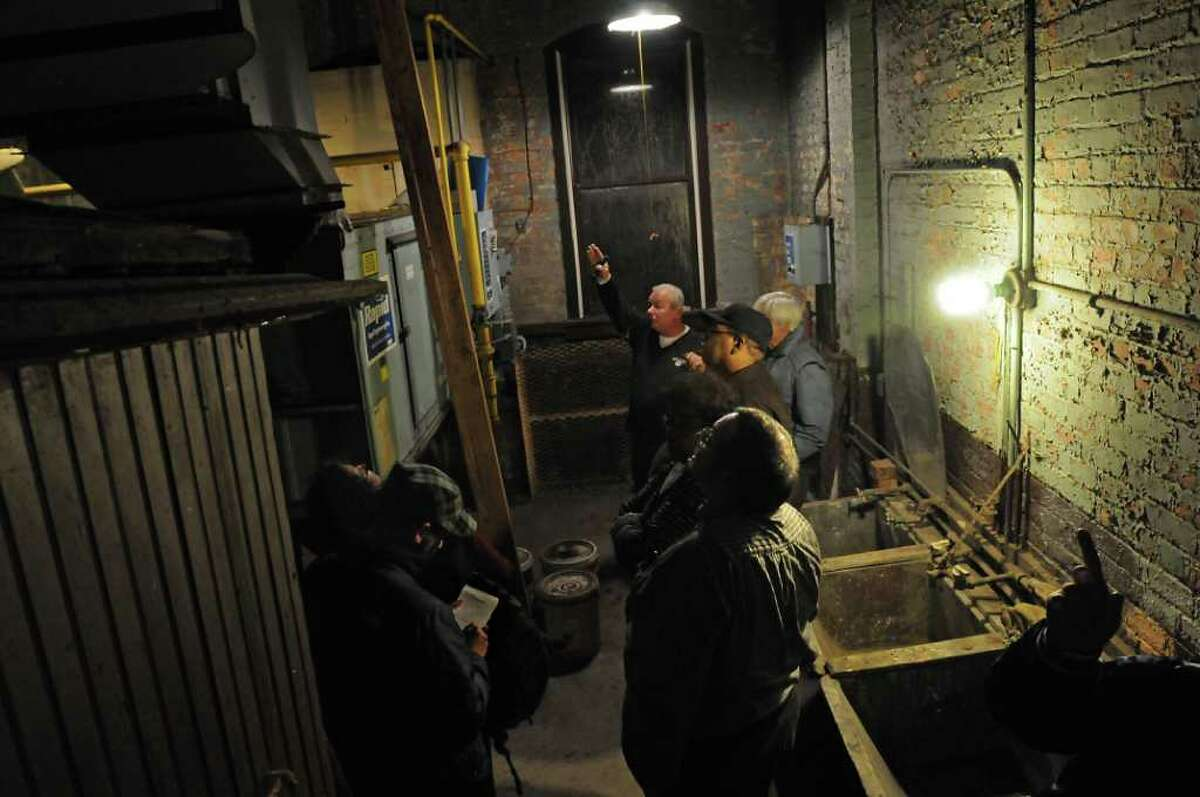 Members of the Albany Common Council and others get a tour of the Public Bath No. 2 in Albany, NY on November 8, 2010. The public bath is slated for closure under Mayor Jerry Jennings proposed 2011 budget. (Lori Van Buren / Times Union)