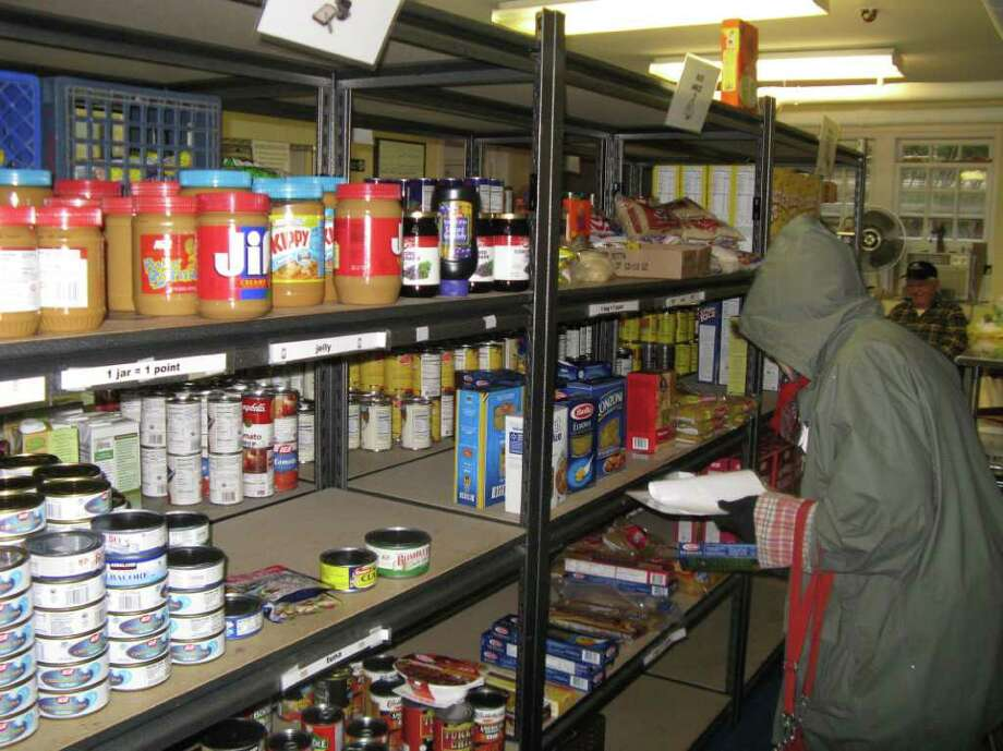 The food pantry of Neighbor to Neighbor, on a monthly basis, is providing more than 25,000 meals for needy families in Greenwich. Photo: Anne W. Semmes / Greenwich Citizen