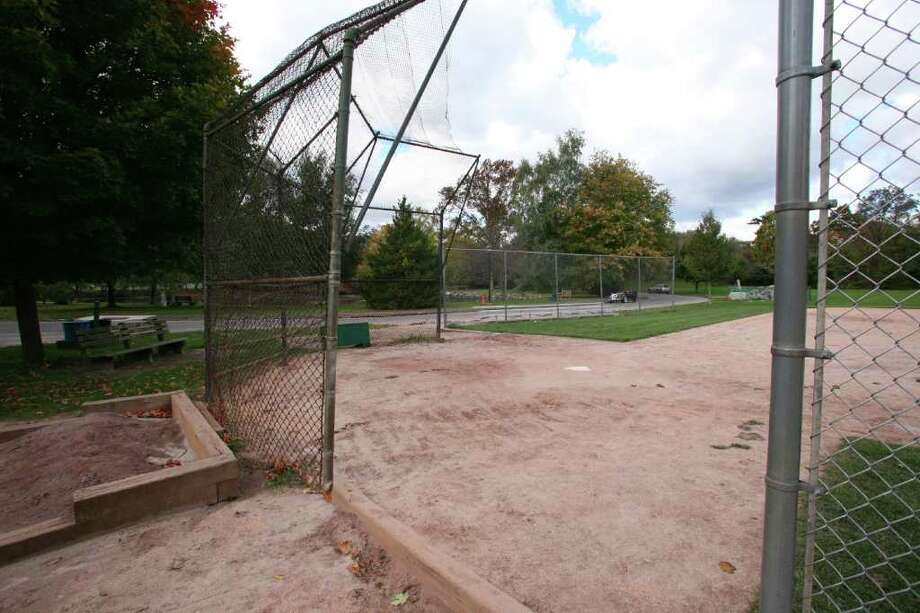 A softball field at Bruce Park  four years after a Greenwich man sued the town seeking damages for serious facial injuries his sustained after being hit with a softball while walking by the field. Photo: ST / Greenwich Time