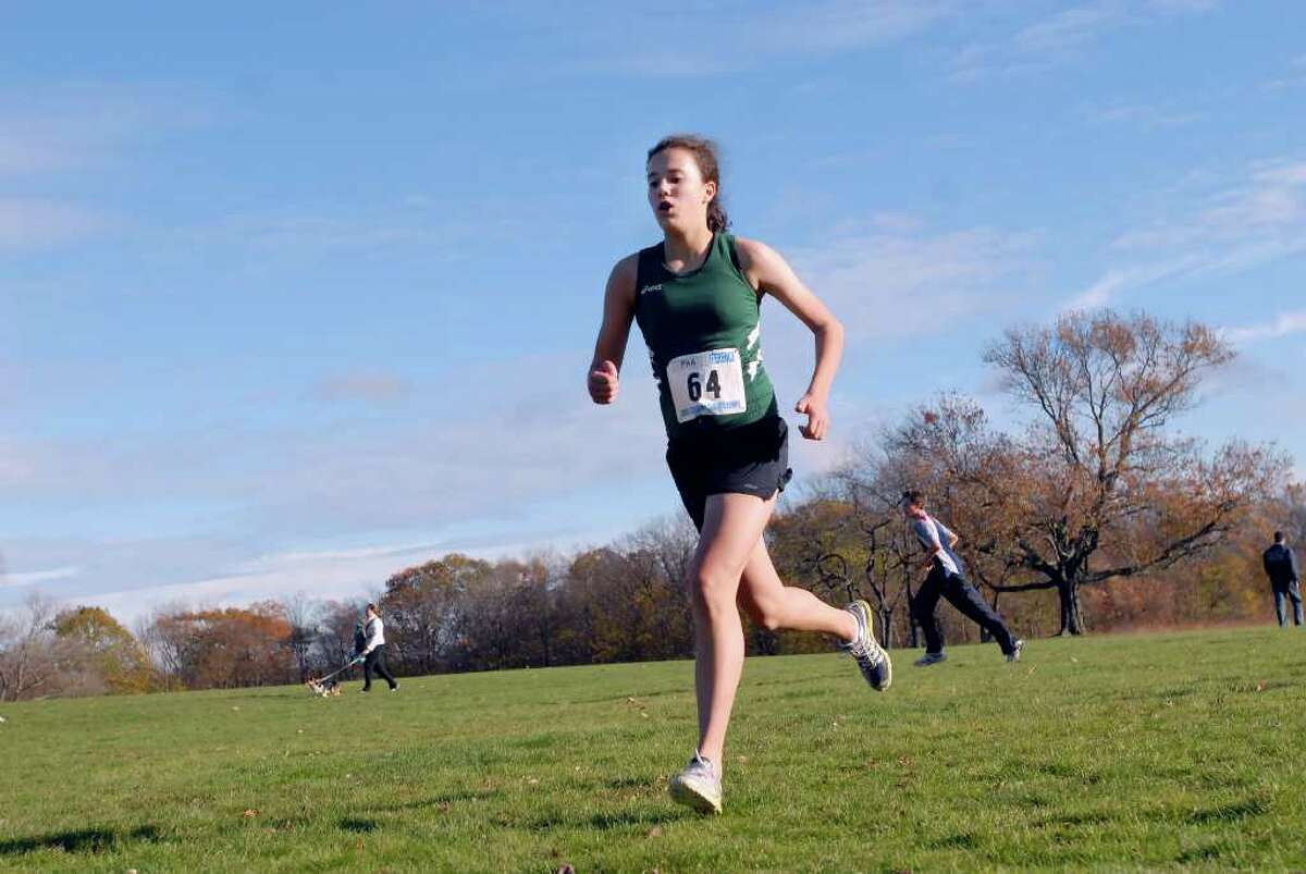 Janka Hlinka of Greenwich Academy competes in the FAA Cross Country Championships at Waveny Park, New Canaan, Tuesday afternoon, Nov. 9, 2010. Hlinka came in ninth place in the race with a time of 21:13 and her Greenwich Academy team finished third overall.