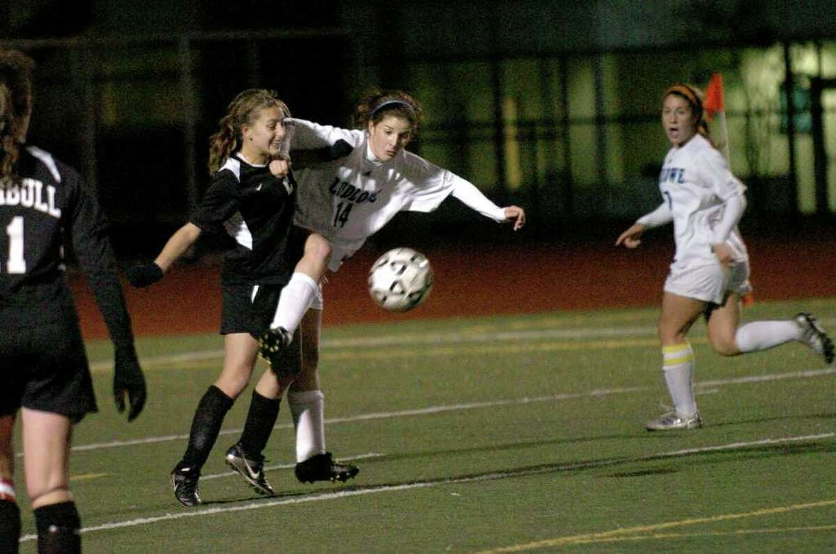 Highlights from girls CIAC Class LL First Round State Tournament soccer action between Fairfield Ludlowe and Trumbull in Fairfield, Conn. on Tuesday November 09, 2010.
