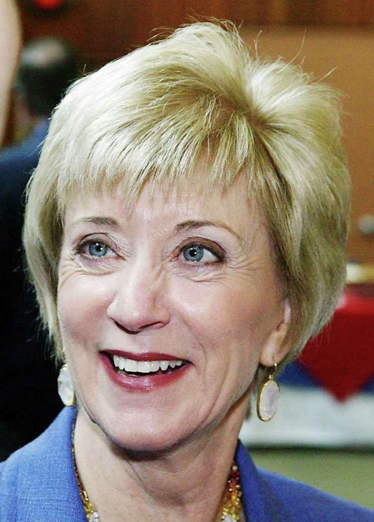 Former Republican U.S. Senate candidate Linda McMahon, a Greenwich resident.