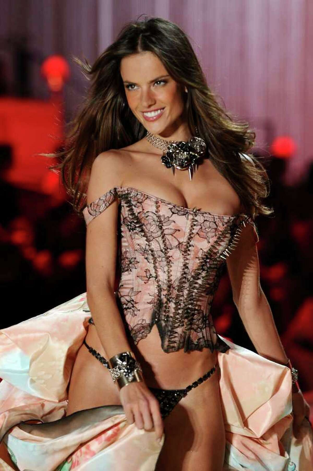 NEW YORK - NOVEMBER 10: Model Alessandra Ambrosio walks the runway during the 2010 Victoria's Secret Fashion Show at the Lexington Avenue Armory on November 10, 2010 in New York City. (Photo by Theo Wargo/Getty Images) *** Local Caption *** Alessandra Ambrosio