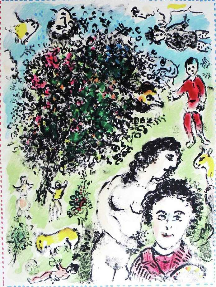Westport, CT ......MARC CHAGALL HOLIDAY ART EXHIBITION  PRESENTED BY GLOBAL ART MASTER WORKS IN ASSOCIATION WITH  WESTPORT   ARTS CENTER    A rare and exquisite series of Marc Chagall etchings and lithographs will be on display and for sale at 12 Wilton Road, next to National Hall, in Westport through Nov 21. The opening is this Saturday, Nov 13, 2010 from 4 to 7 p.m. Photo: Contributed Photo / Westport News