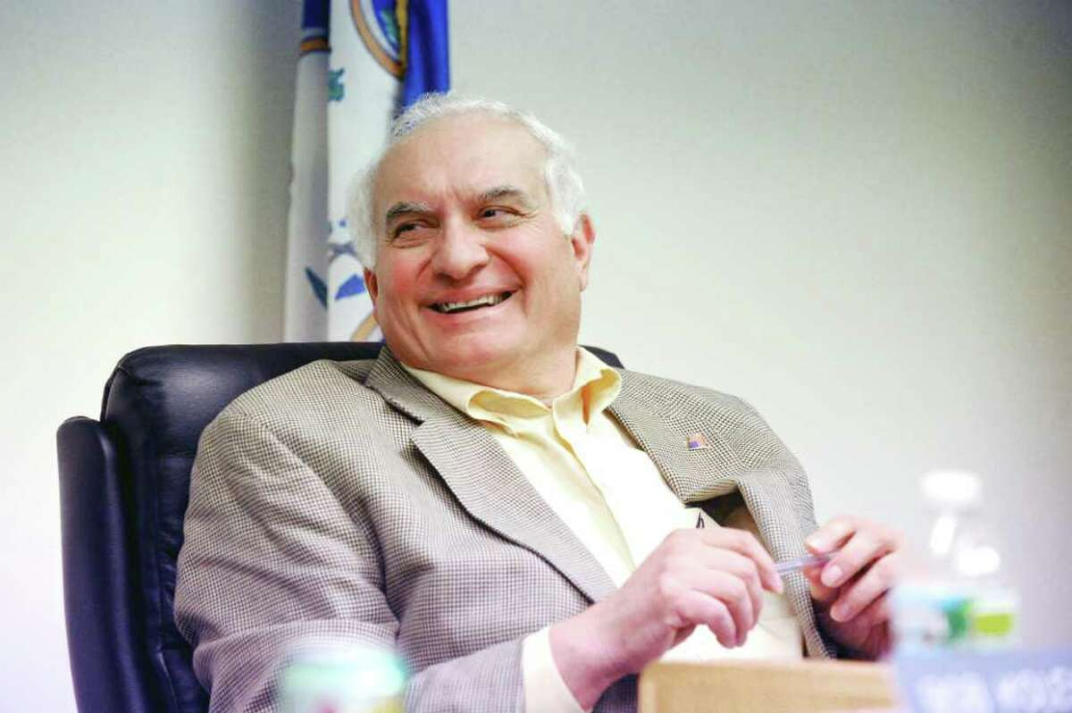 Board of Finance Chairman Joe Tarzia in a meeting at the Government Center in Stamford, Conn., November 10, 2010.