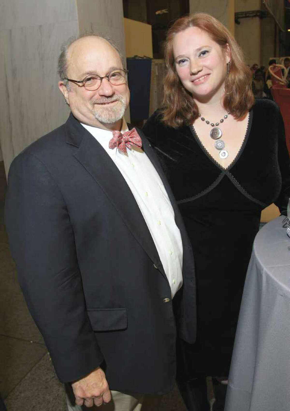Participating artist Bill Pettit and jewelry designer Elissa Halloran. (Joe Putrock / Special to the Times Union)