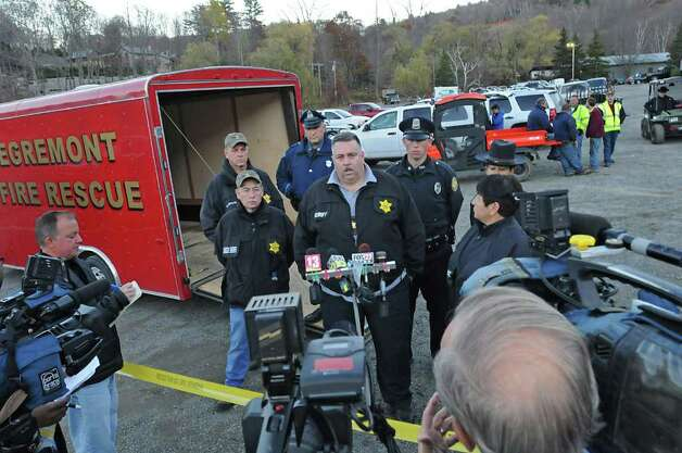 Columbia County Sheriff David Harrison Jr  speaks during a