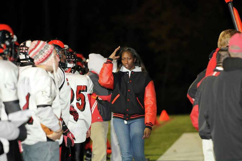 New Canaan High School hosts Central High School in varsity football in New Canaan, Connecticut on Friday, November 12, 2010. Photo: Shelley Cryan / Shelley Cryan freelance; Stamford Advocate Freelance