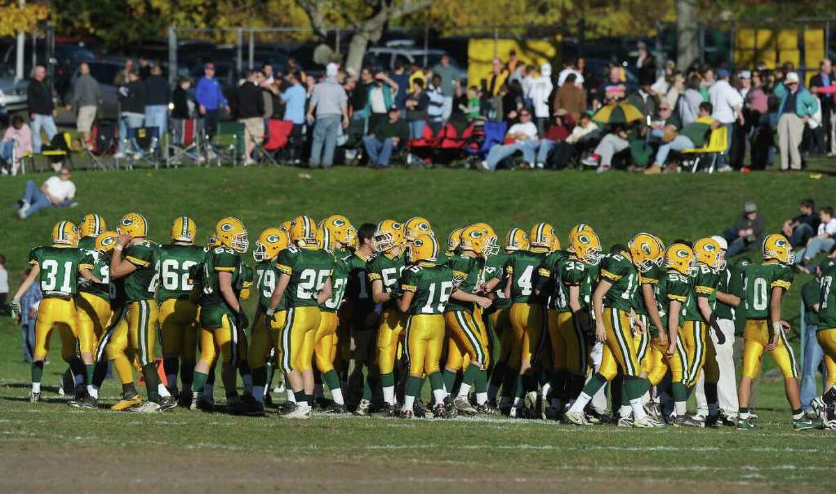 Trinity Catholic hosts Stamford High in football action in Stamford, Conn. on Saturday November 13, 2010