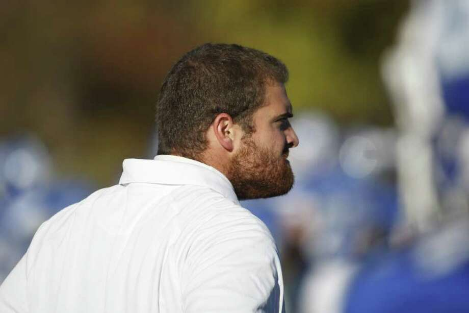 The Darien coaching staff are not happy with a loss of down due to a penalty as The Blue Wave plays The Norwalk Bears on Saturday, November 13th in Darien, Conn. Photo: David E. Johnston / Connecticut Post Freelance