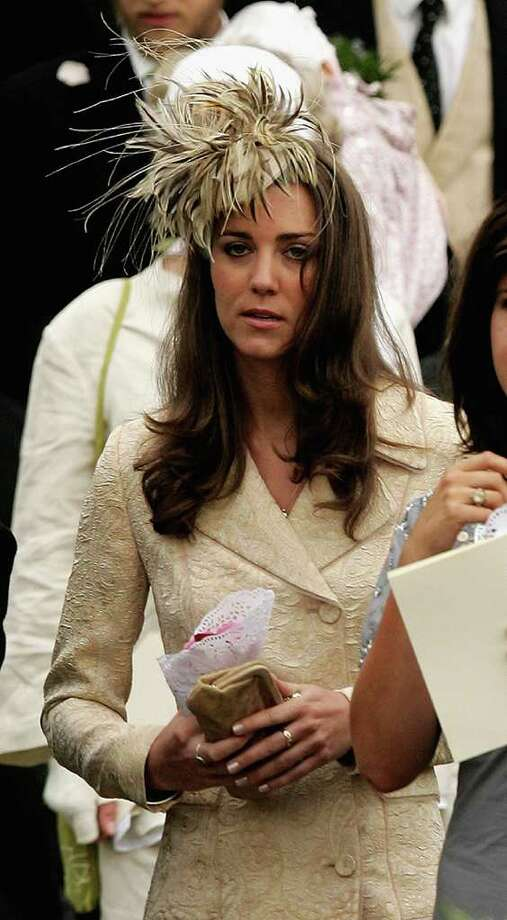 LACOCK, UNITED KINGDOM - MAY 06:  Girlfriend of Prince William Kate Middleton leaves Laura Parker Bowles wedding to Harry Lopes at St Cyriac's Church, Lacock on May 6, 2006 in Wiltshire, England. 26-year old Laura (daughter of Camilla and her former husband Andrew), and 29-year old Harry (nephew of the late Lord Roborough and grandson of the late Lord Astor of Hever) announced their engagement in November, having dated for nine years.  (Photo by Chris Jackson/Getty Images) Photo: Chris Jackson, Getty Images / 2006 Getty Images