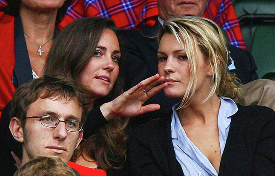LONDON - JULY 02:  Kate Middleton, girlfriend of Prince William (L) looks on from the crowd during the Men's Singles third round match between Robin Soderling of Sweden and Rafael Nadal of Spain during day eight of the Wimbledon Lawn Tennis Championships at the All England Lawn Tennis and Croquet Club on July 2, 2007 in London, England.  (Photo by Ryan Pierse/Getty Images) *** Local Caption *** Robin Soderling Photo: Ryan Pierse, Getty Images / 2007 Getty Images