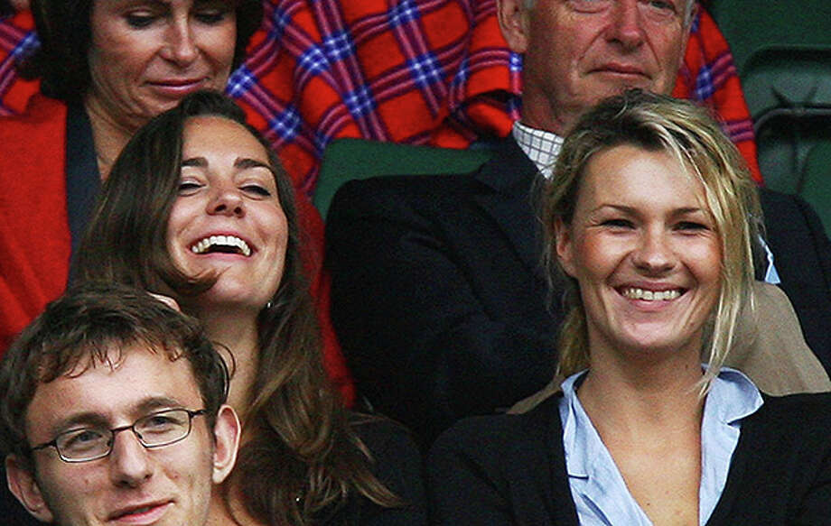 LONDON - JULY 02:  Kate Middleton, girlfriend of Prince William (L) looks on from the crowd during the Men's Singles third round match between Robin Soderling of Sweden and Rafael Nadal of Spain during day eight of the Wimbledon Lawn Tennis Championships at the All England Lawn Tennis and Croquet Club on July 2, 2007 in London, England.  (Photo by Ryan Pierse/Getty Images) *** Local Caption *** Kate Middleton Photo: Ryan Pierse, Getty Images / 2007 Getty Images