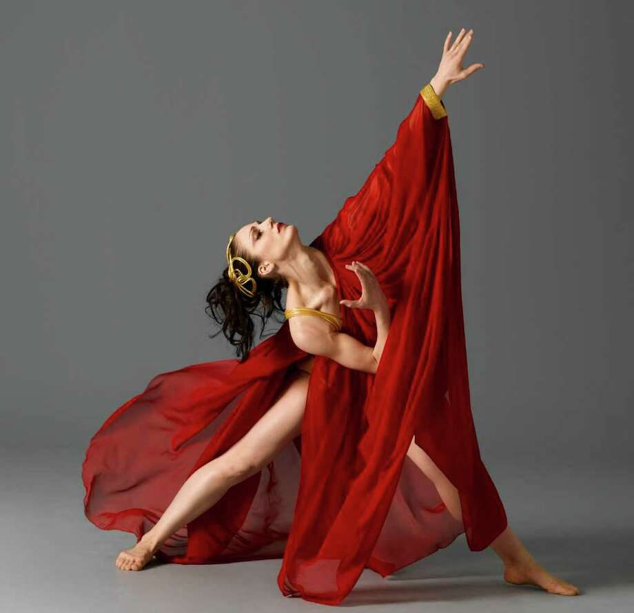 "Dancer Carrie Ellmore-Tallitsch in Martha Graham's ""Circe."" The Martha Graham Dance Company will perform Friday at Fairfield University. Photo: Contributed Photo / ©2004 John Deane"