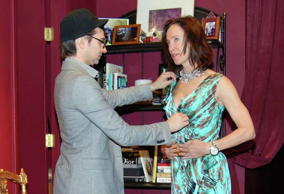 Christian Siriano with Taylor Gibson-Ullman. Photo: Jeanna Petersen Shepard / New Canaan News
