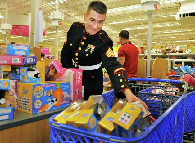Nyc Toys For Tots Marines : Photos toys for tots shopping spree times union