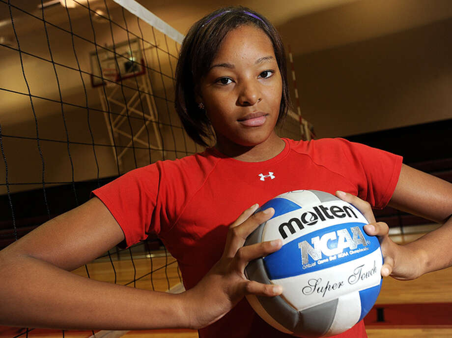Former Ozen volleyball player Jayme Bazile is leading the Lamar University volleyball team in several statistical categories this season  and has played a key part in the Lady Cardinals' recent turnaround. Guiseppe Barranco/The Enterprise / Beaumont