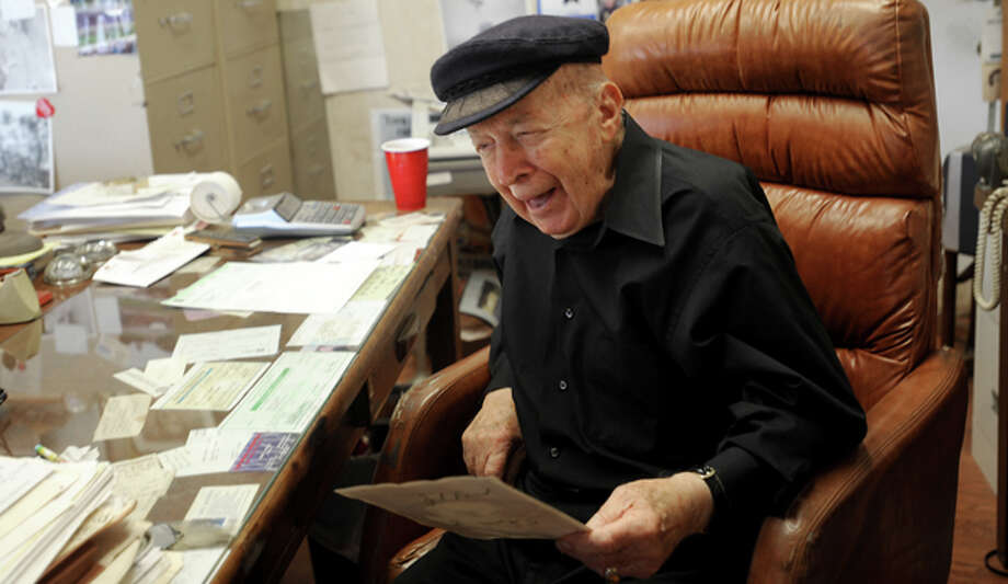 Former Mayor, Jimmie Cokinos reminisces about his life from his office in Beaumont, Wednesday. Tammy McKinley/The Enterprise