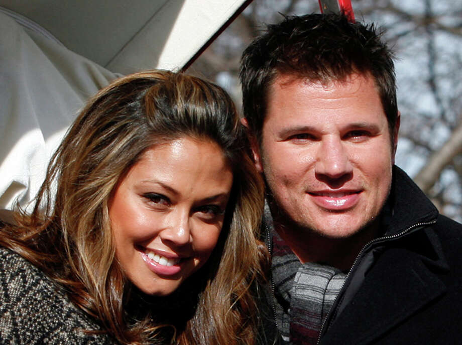 Vanessa Minnillo and Nick Lachey said in a statement Thursday that they are engaged. Lachey previously was married to Jessica Simpson. AP Photo/Jason DeCrow, file / FR103966 AP