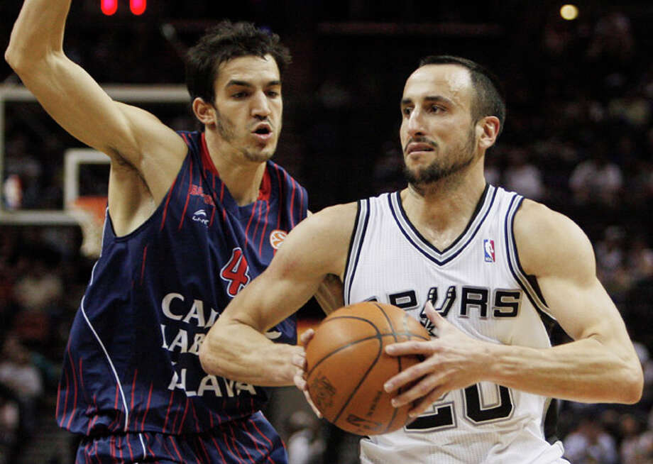 San Antonio's Manu Ginobili might be an excellent basketball player, but his definition of defense involves strictly flopping. (AP Photo/Darren Abate) / FR115 AP