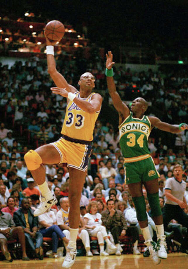 Kareem Abdul-Jabbar averaged a double-double 12 seasons, from 1969-1981 with the Milwaukee Bucks and the Los Angeles Lakers, including four years where his scoring average was 