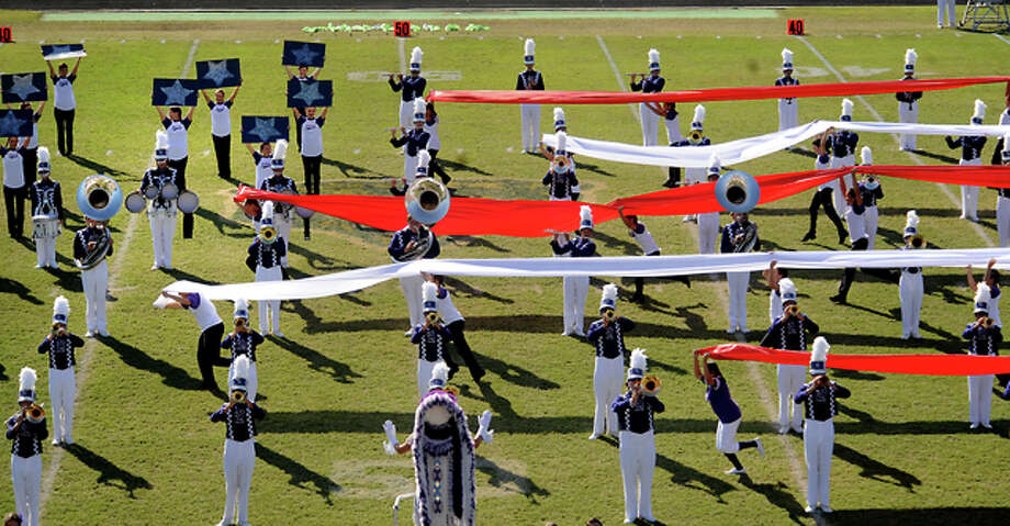 PN-G performs during the Region 10 U.I.L. Marching Contest at LC-M in North Orange, Saturday. Tammy McKinley/The Enterprise / Beaumont Enterprise
