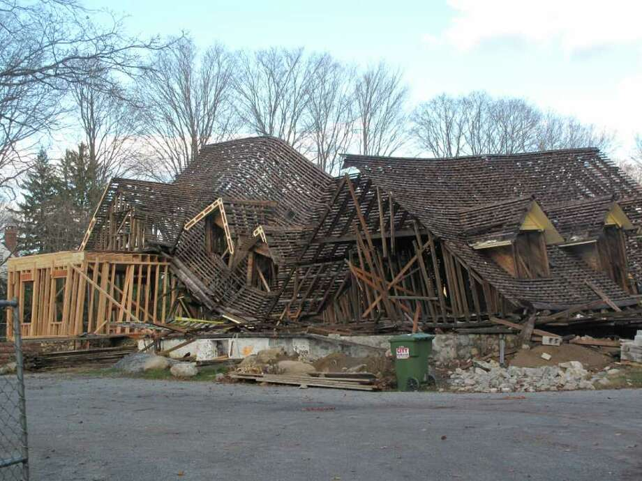 The Maples Inn construction site in shambles Photo: Contributed Photo / New Canaan News
