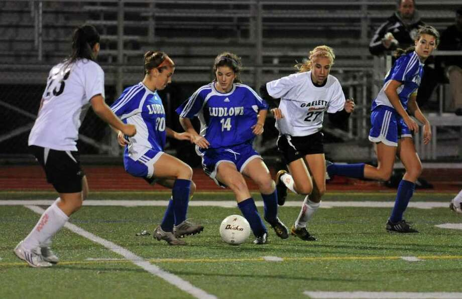 Fairfield Ludlowe High School vs. Shelton High School Class LL girls soccer semifinal game at Norwalk High School, in Norwalk, Conn. Nov. 17th, 2010. Photo: Ned Gerard / Connecticut Post