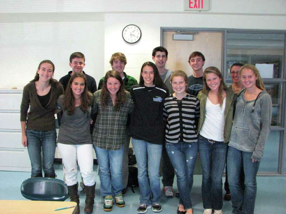 Top from left: Ian Sullivan, Evan Rogers, Jay Alter, James Burgoyne and Laura Young. Bottom from left: Sarah Smith, T.T. Pollio, Amy Sanborn, Cammie Kirby, Kate Ferguson, Emily Tropsa and Marguerite Morgan. The Youth Asset Team is a group of high school students who were recommended by teachers and community members as being strong leaders. 11-19-10 Photo: Contributed Photo / Darien News