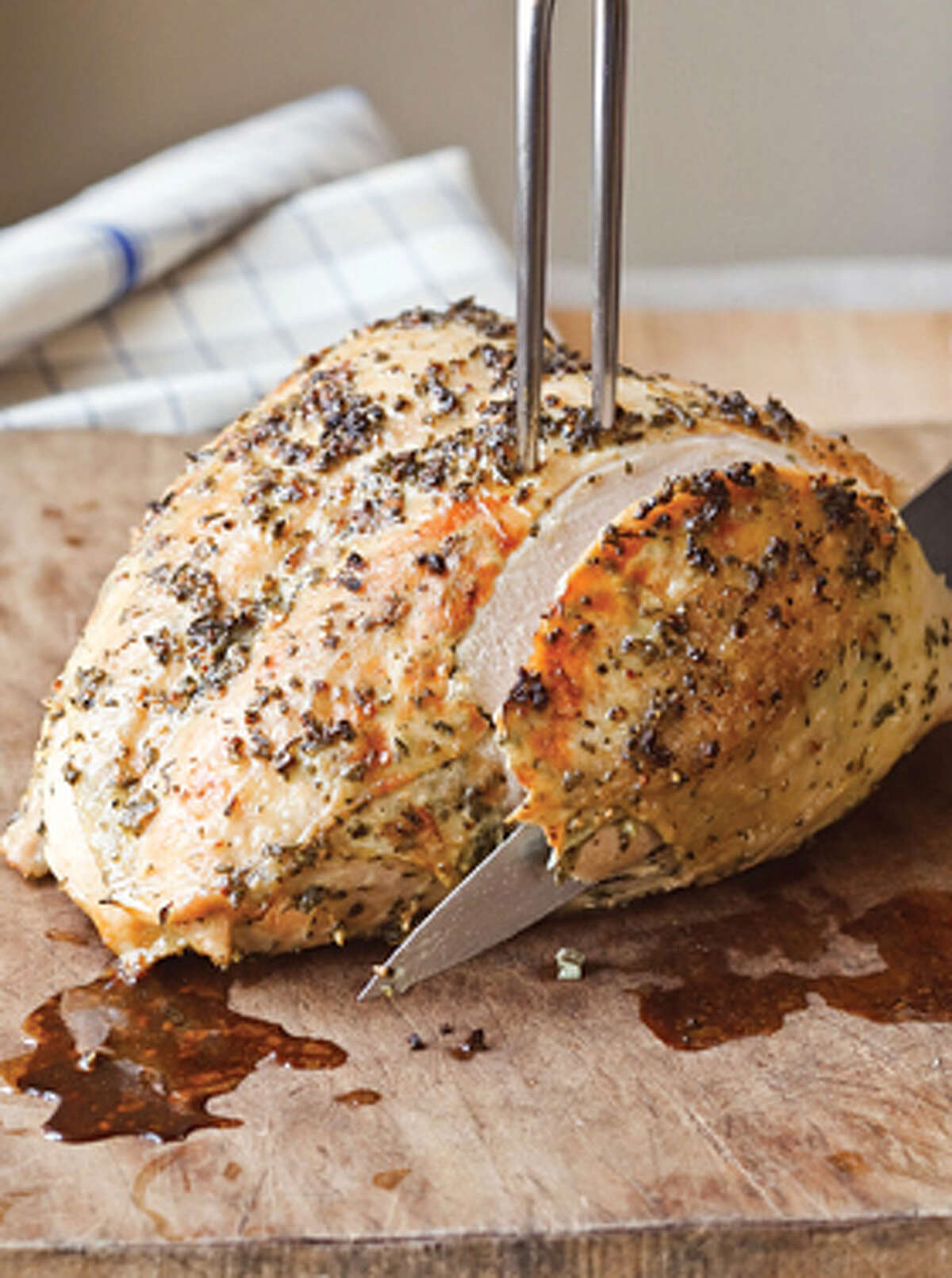 Herb-roasted turkey breast.Get the recipe here.