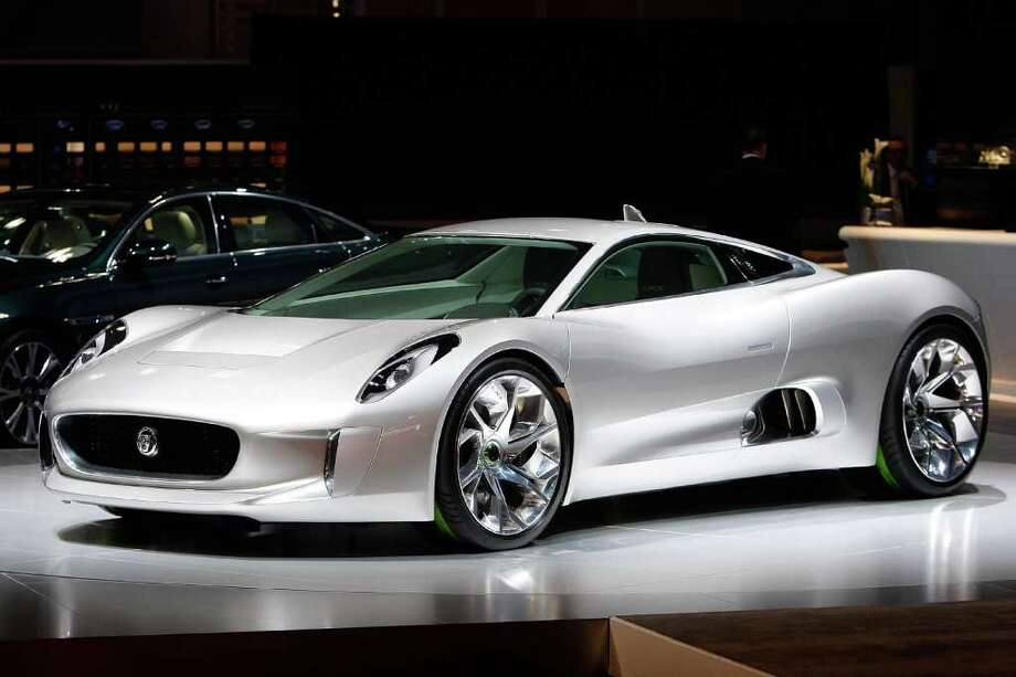 LOS ANGELES, CA - NOVEMBER 17:  Jaguar CX75 electric car is revealed at the two-day media preview event for the 2010 Los Angeles Auto Show on November 17, 2010 in Los Angeles, California. More than 20 North American debuts, as well as green and new alternative fuel technology vehicles, are being featured. The 10-day LA Auto Show begins November 19 at the Los Angeles Convention Center. (Photo by David McNew/Getty Images) Photo: David McNew, Getty Images / 2010 Getty Images