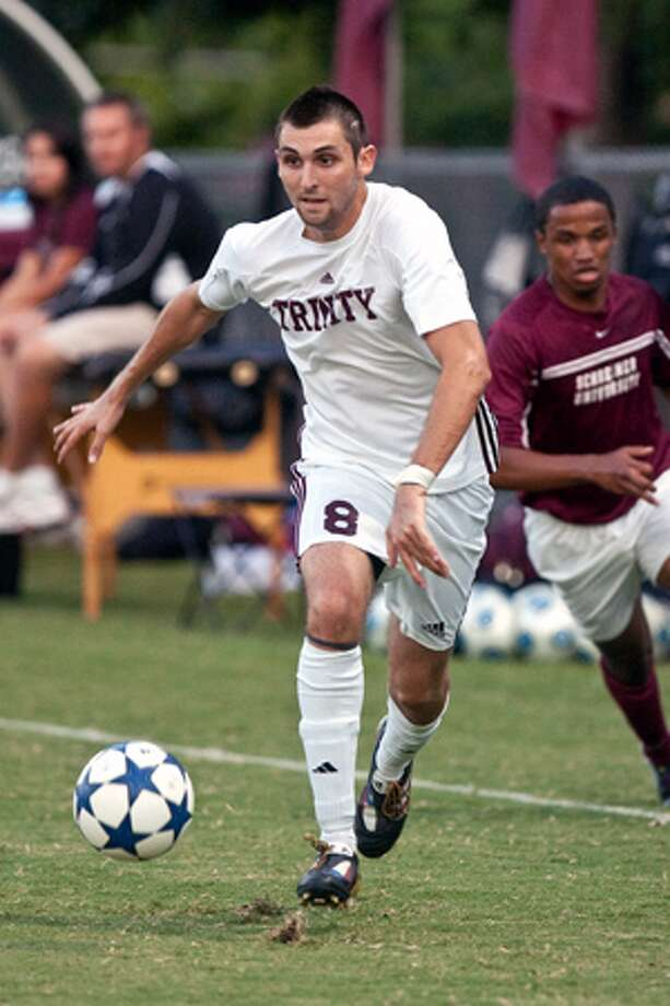 Churchill graduate Tommy Barros has scored 12 goals this season for the top-ranked Trinity Tigers.
