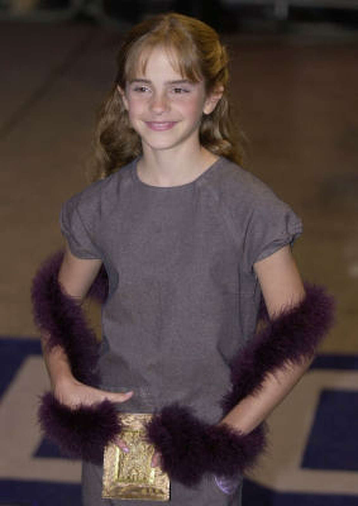 Emma Watson, who plays Hermione Granger, at Harry Potter and the Philosopher's Stone in London in 2001. Richard Lewis/The Associated Press