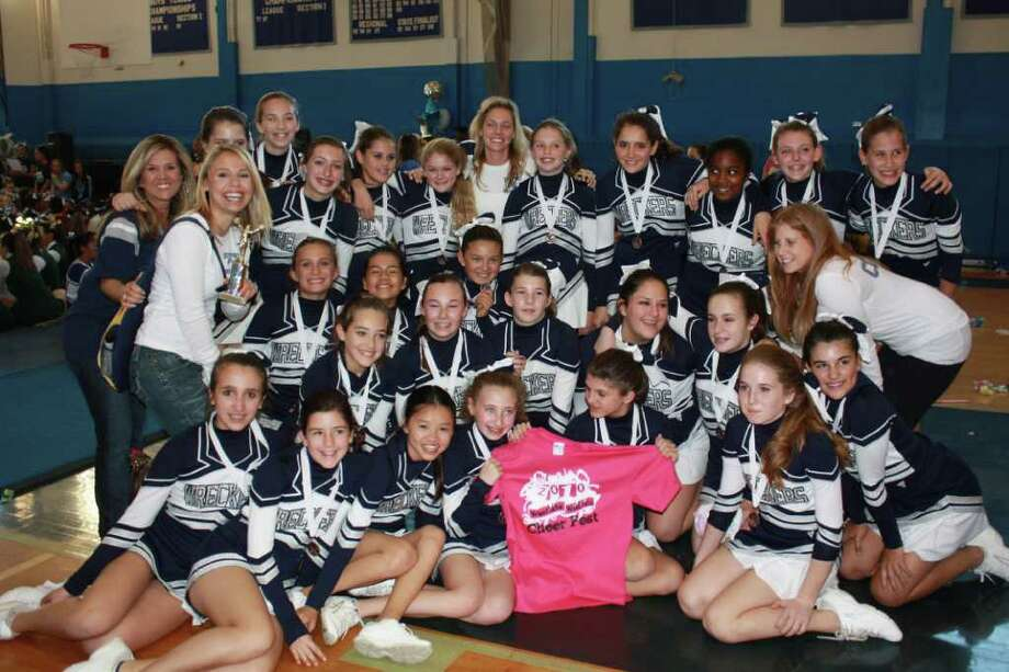 The Westport PAL eighth grade cheerleading team placed third at the 13th Annual Westlake High School in Thornbrook, N.Y. Photo: Contributed Photo / Ariane Stiegler