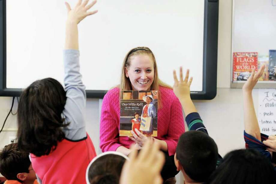 Fourth-grade teacher Laura Lynam in her classroom at Stark Elementary School in Stamford, Conn. on Thursday November 18, 2010 Photo: Kathleen O'Rourke / Stamford Advocate