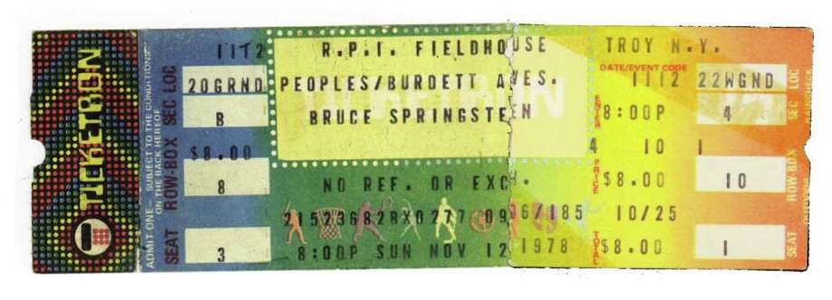 Joyce Bassett was able to scrape up the $8 needed to see Bruce Springsteen at RPI in 1978.
