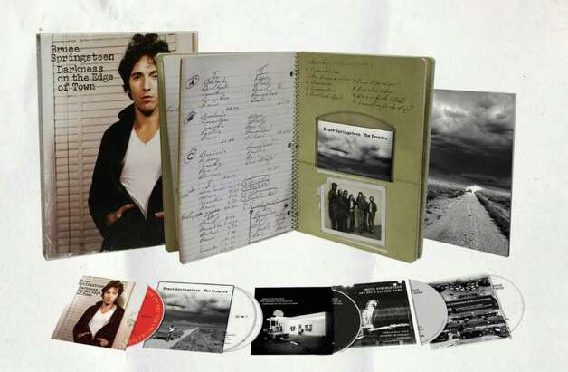 ?The Promise: Deluxe Edition? includes three CDs, three DVDs, an 80-page replica spiral notebook, a poster, four mp3 downloads and, yes, the ?Darknesson the Edge of Town? tour T-shirt, all for $115.