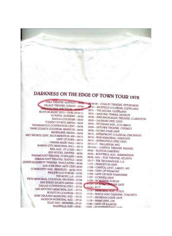 The T-shirt from the 1978 tour lists the venue as R.I.T. (Rochester Institute of Technology) rather than RPI in Troy.