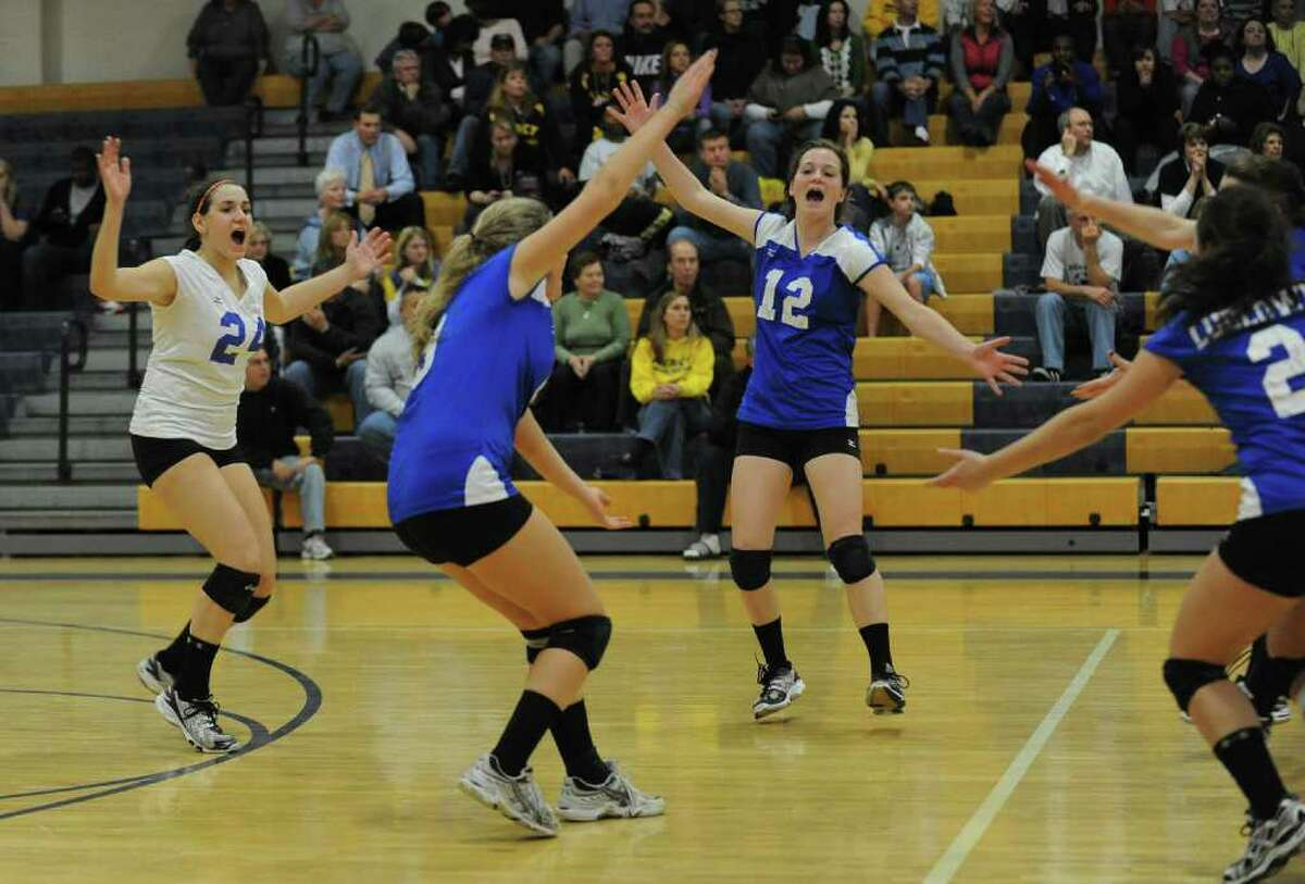 Highlights from CIAC Class LL semi-final volleyball action between Fairfield Ludlowe and Mercy in East Haven, Conn. on Thursday November 18, 2010.
