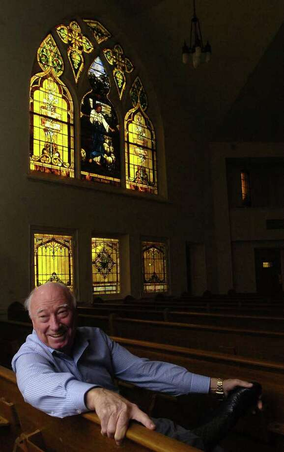 A year after buying the Westminster Presbyterian Church in downtown Beaumont, Jim Austin is still trying to find the right buyer for it. Built in 1911, the sanctuary has three large original Louis Tiffany stained glass windows in it with smaller panes in other parts of the building.  Dave Ryan/The Enterprise Photo: Dave Ryan / Beaumont