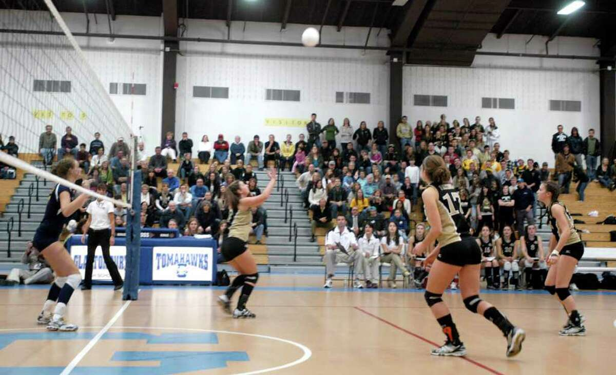 Joel Barlow girls volleyball lost to RHAM 3 to 1 in the Class M state title championship game played in Glastonbury, Nov. 20, 2010.