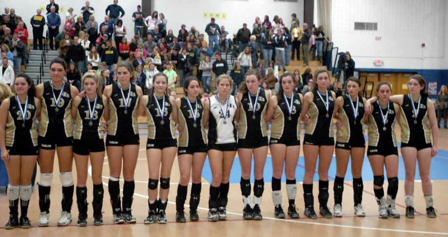 Joel Barlow girls volleyball lost to RHAM 3 to 1 in the Class M state title championship game played in Glastonbury, Saturday, Nov. 20, 2010. Photo: Rich Gregory / The News-Times