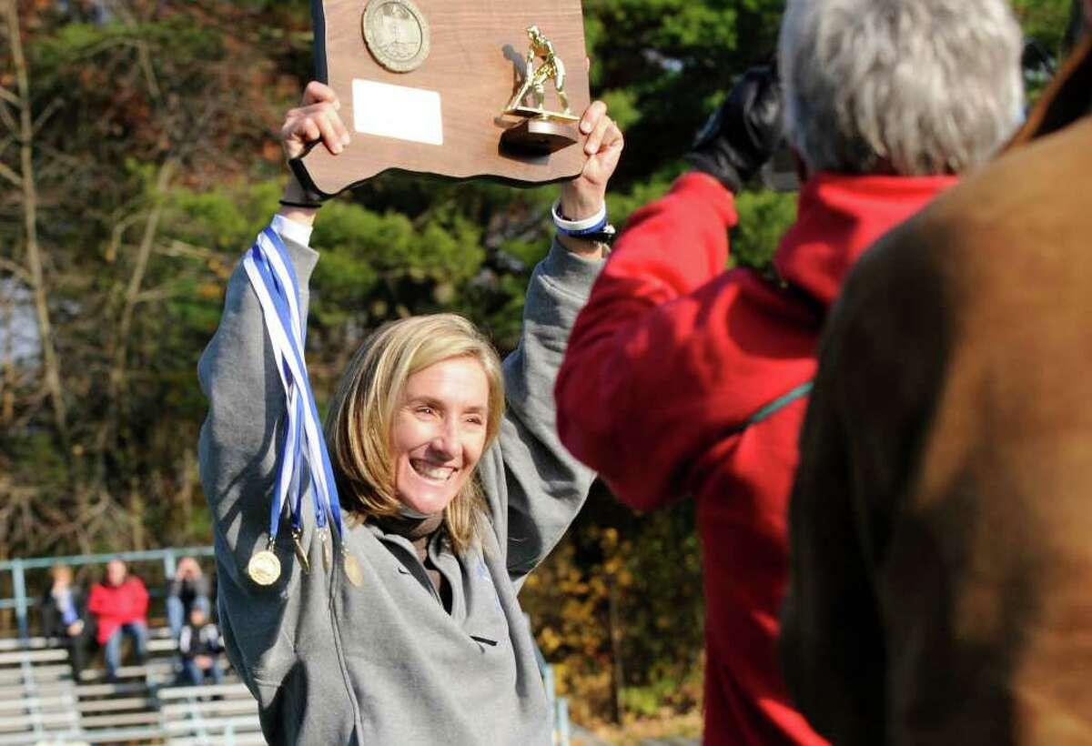 Darien High School wins against Daniel Hand High School for the Class M field hockey state tournament at Wethersfield High School in Wethersfield, CT on Saturday November 20, 2010.